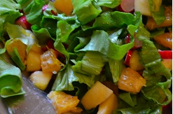 Entree froide salade de radis aux fruits for Entree froide ete