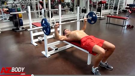 développé couché exercice de musculation