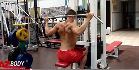 tirage nuque pourmuscler le dos