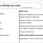pois chiche au curry cookeo