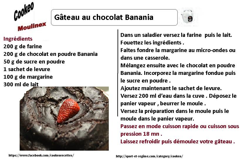gâteau chocolat banania au cookeo