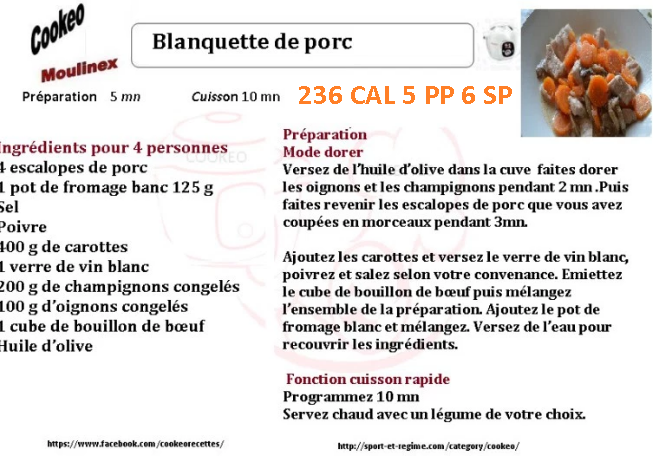 BLANQUETTE DE PORC
