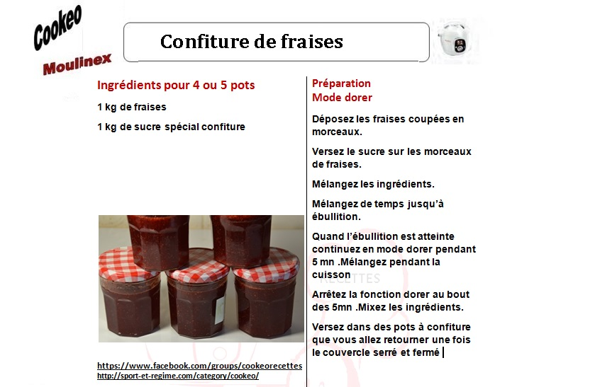confiture framboise cookeo