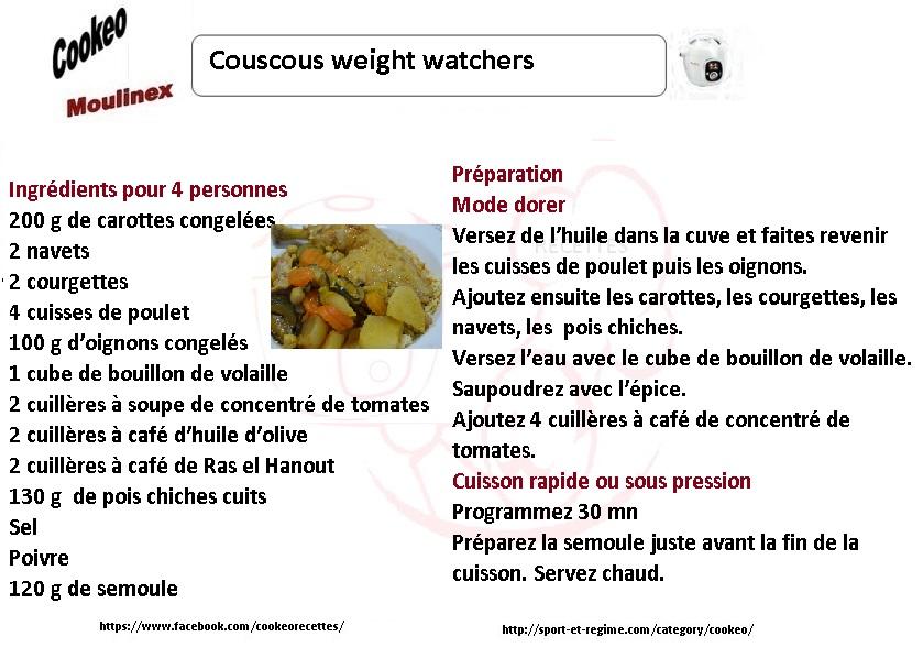 couscous weight watchers recette cookeo. Black Bedroom Furniture Sets. Home Design Ideas