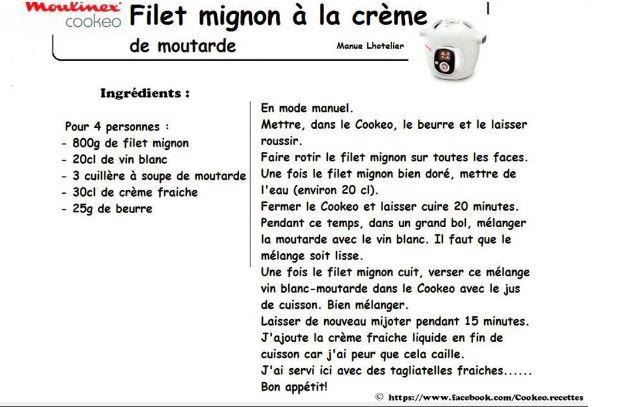Cat gorie fiches rotis filets mignon - Recette de noel au cookeo ...