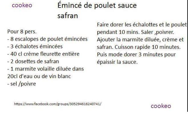 poulet safran