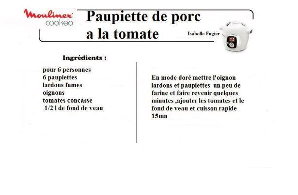 10 recettes cookeo paupiettes vol2 - Paupiette de porc recette ...
