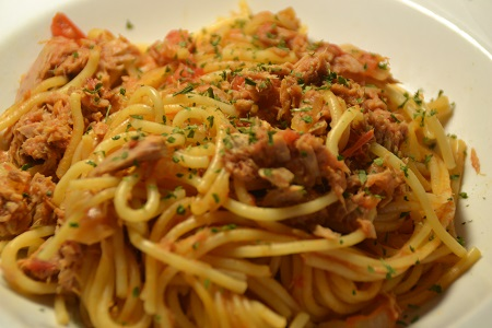 Fiche cookeo Spaghettis thon weight watchers