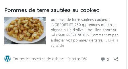 Pommes de terre sautées cookeo