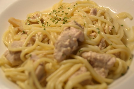 Fiche Spaghettis dinde moutarde cookeo 370 CALORIES 8 PP 9 SP