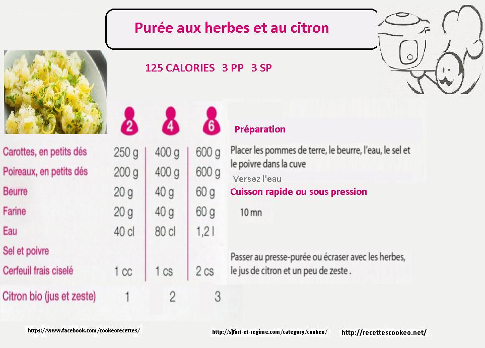 puree herbes citron
