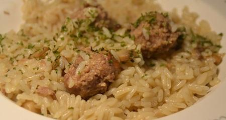 Riz boulettes champignons recette cookeo