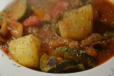 Ratatouille piment Espelette weight watchers au cookeo