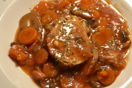 Filet mignon bourguignon cookeo