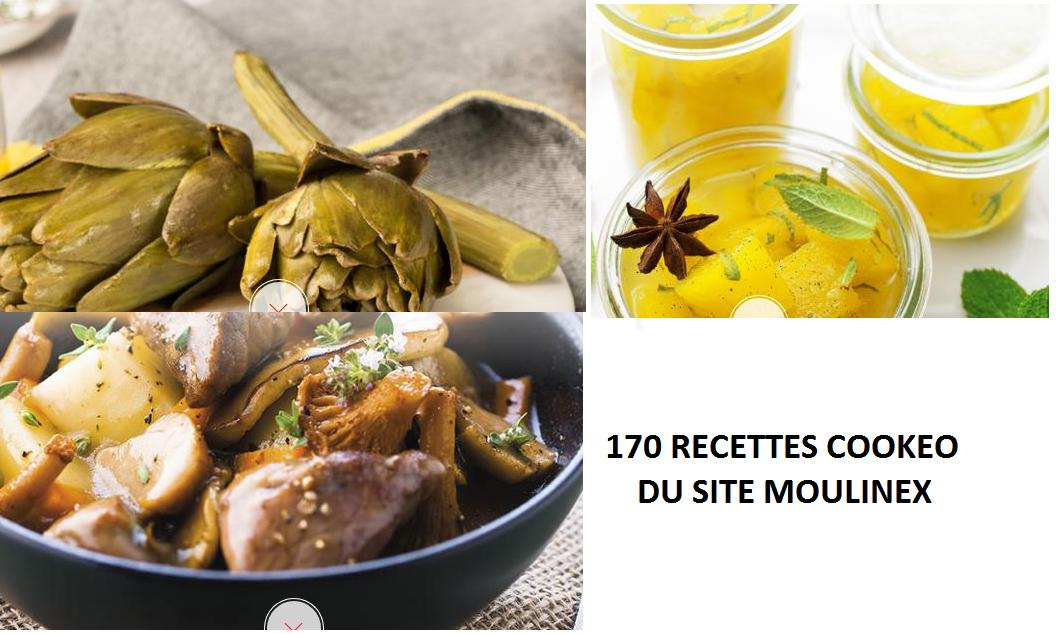 170 recettes cookeo du site Moulinex