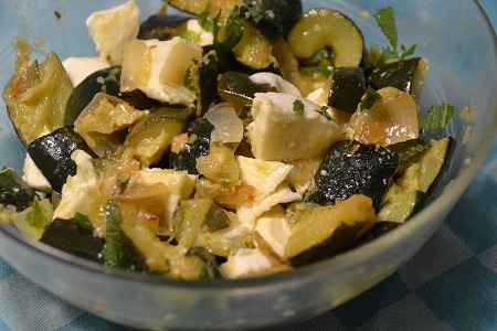 Salade courgettes feta cookeo weight watchers