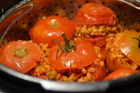 Tomates farcies blé olives recette cookeo