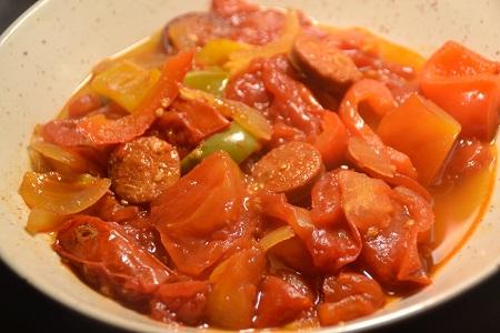Tomates poivrons chorizo recette cookeo