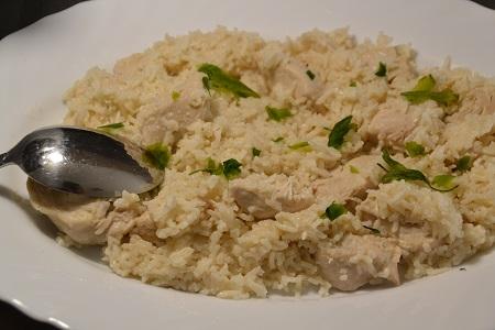 Riz poulet crème fraîche recette cookeo