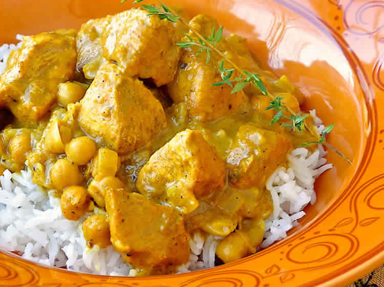 Poulet pois chiches curry weight watchers