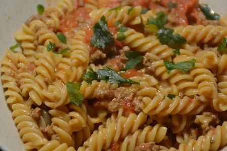 Fusillis viande hachée Boursin recette cookeo