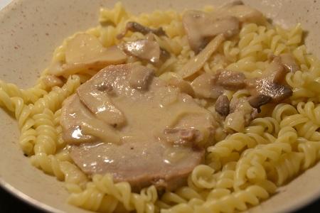 Côtes de porc champignons moutarde cookeo