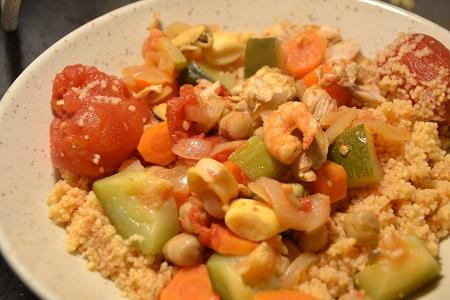 Couscous de la mer recette cookeo