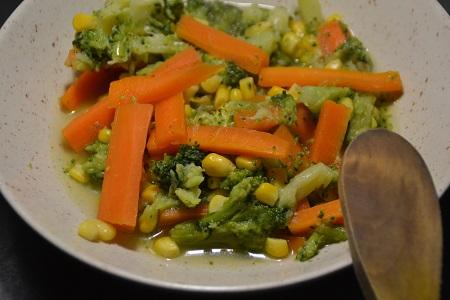 Brocolis maïs carottes recettes cookeo