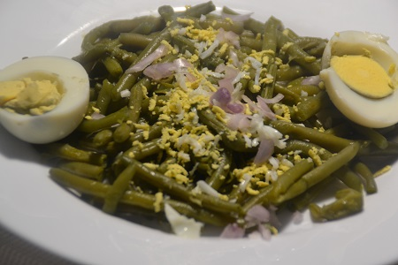 Salade haricots verts oeufs au cookeo