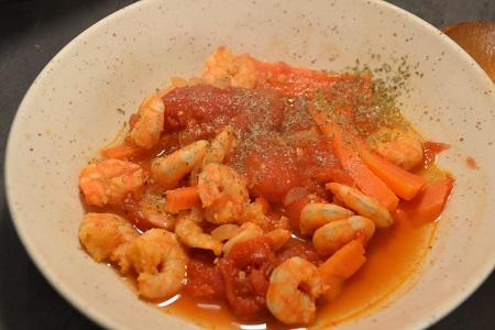Crevettes carottes tomates recette cookeo