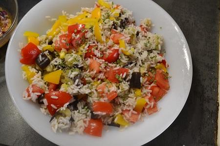 Salade composée aubergines cookeo